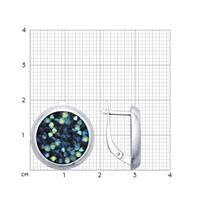 Серебряные серьги с кристаллами Swarovski - фото 5427