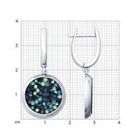 Серебряные серьги с кристаллами Swarovski - фото 5429