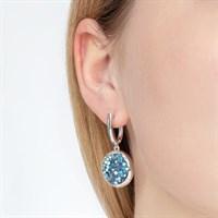 Серебряные серьги с кристаллами Swarovski - фото 5430