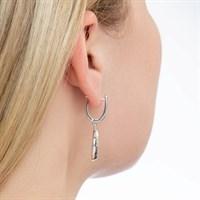 Серебряные серьги с кристаллами Swarovski - фото 5431