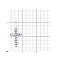 Подвеска крестик с фианитами - фото 5433