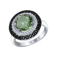 Кольцо из серебра с миксом камней - фото 5466