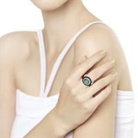 Кольцо из серебра с миксом камней - фото 5467