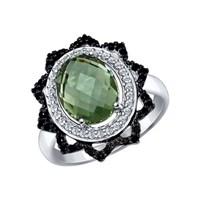 Кольцо из серебра с миксом камней - фото 5468