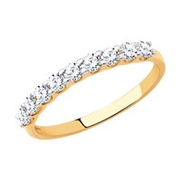 Кольцо из золота с фианитами - фото 5487