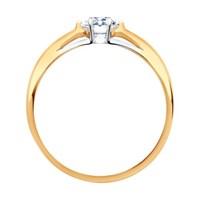 Помолвочное кольцо из золота с фианитом - фото 5490
