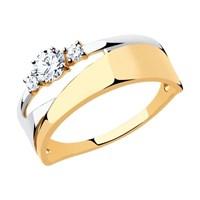 Кольцо из золота с фианитами - фото 5503