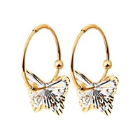 Серьги конго с бабочками - фото 5508