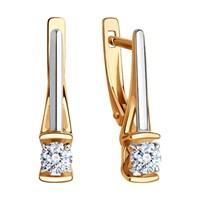 Серьги из золота с фианитами Swarovski - фото 5575