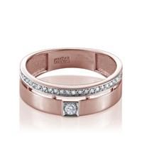 Золотое кольцо с бриллиантами - фото 5581