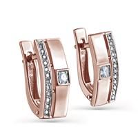 Золотые серьги с бриллиантами - фото 5586