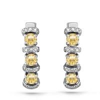 Серьги из белого золота с брилиантами - фото 5606