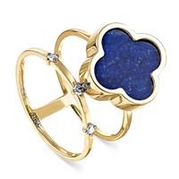 Кольцо из золота с лазуритом - фото 5633