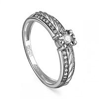 Кольцо из белого золота с бриллиантами - фото 5635