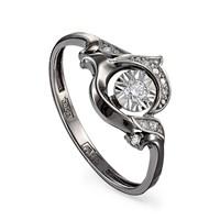 Кольцо из белого золота с бриллиантами - фото 5636