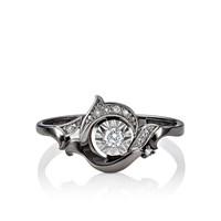 Кольцо из белого золота с бриллиантами - фото 5637