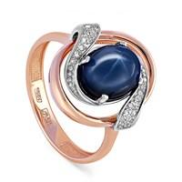 Золотое кольцо с сапфиром - фото 5646