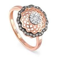 Золотое кольцо с бриллиантами - фото 5661