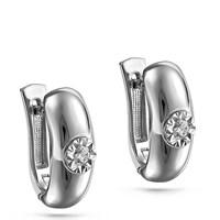 Серьги из белого золота с бриллиантами - фото 5680