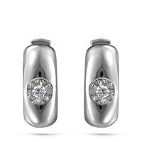 Серьги из белого золота с бриллиантами - фото 5681