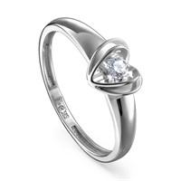 Кольцо из белого золота с бриллиантом - фото 5692