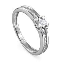 Кольцо из белого золота с бриллиантами - фото 5696
