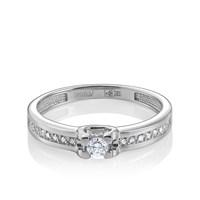 Кольцо из белого золота с бриллиантами - фото 5697