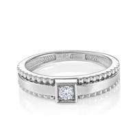 Кольцо из белого золота с бриллиантами - фото 5699