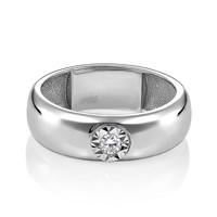 Кольцо из белого золота с бриллиантом - фото 5701