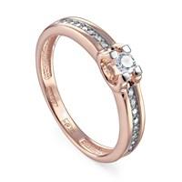 Кольцо из золота с бриллиантами - фото 5704