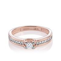 Кольцо из золота с бриллиантами - фото 5705