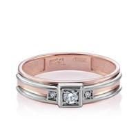 Золотое кольцо с бриллиантами - фото 5707