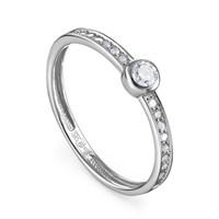 Кольцо из белого золота с бриллиантами - фото 5711