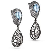 Серьги из серебра с ситаллами - фото 5725