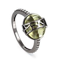 Кольцо из серебра с фианитами - фото 5728