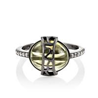 Кольцо из серебра с фианитами - фото 5729