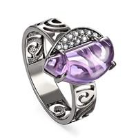 Кольцо из серебра с ситаллом - фото 5732