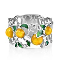 Кольцо из серебра с бриллиантами - фото 5739