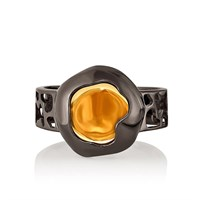 Кольцо из серебра с ситаллом - фото 5743