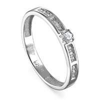 Кольцо из белого золота с бриллиантами - фото 5751