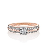 Золотое кольцо с бриллиантами - фото 5754