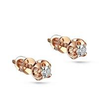 Пусеты из золота с бриллиантами - фото 5762