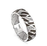 Кольцо из белого золота с бриллиантами - фото 5783