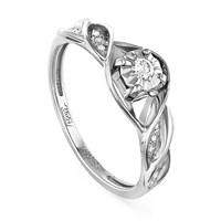 Кольцо из белого золота с бриллиантами - фото 5816
