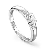 Кольцо из белого золота с бриллиантами - фото 5818