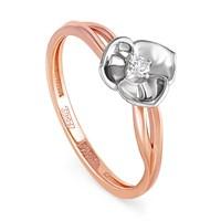 Кольцо из золота с бриллиантом - фото 5823