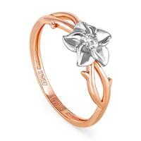 Кольцо из золота с бриллиантом - фото 5824