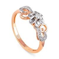 Золотое кольцо с бриллиантами - фото 5827