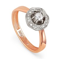Кольцо из золота с бриллиантами - фото 5829