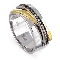 Золотое кольцо с бриллиантами - фото 5841